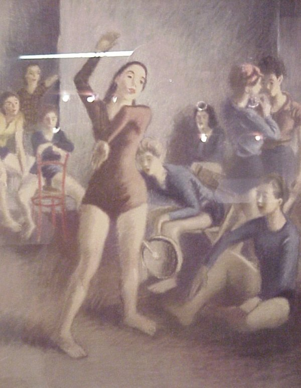 34: Raphael Soyer ( 1899 - 1987 New York), color  litho