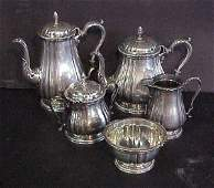 101: Five piece sterling tea set International silver,