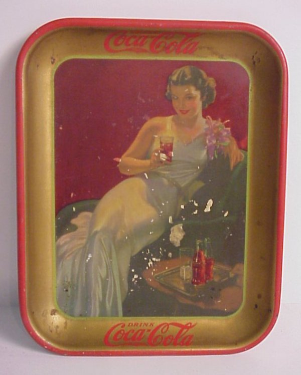 "3: 1930s Coca- Cola tray, 13 1/4"" x 10 1/2"", some  wear"