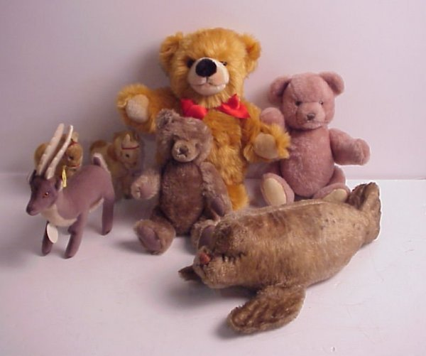 5: Steiff stuffed toy animals, includes 3 teddy  bears,