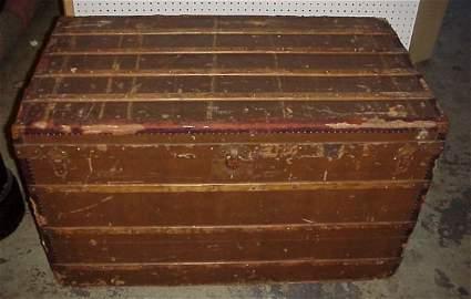 "94: Antique Goyard trunk, labeled E. Goyard Aine,  27""h"