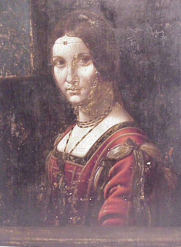 26: School of Da Vinci Portrait of an aristocratic  wom