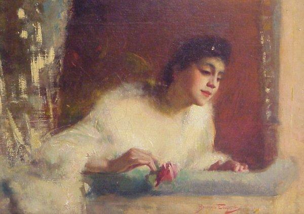 72: Benjamin Eggleston (1867-1937 Brooklyn, NY) Lady  a