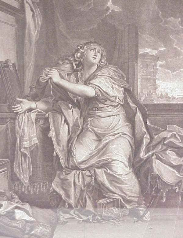 4: 18thc allegorical figure engraving, Italian, 21  1/2