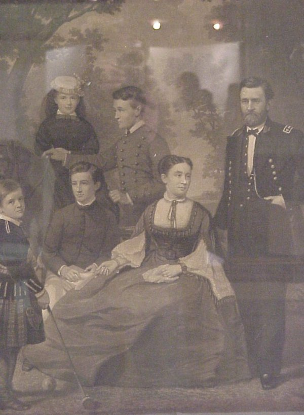 10: US Grant and his family 19thc black and white  prin