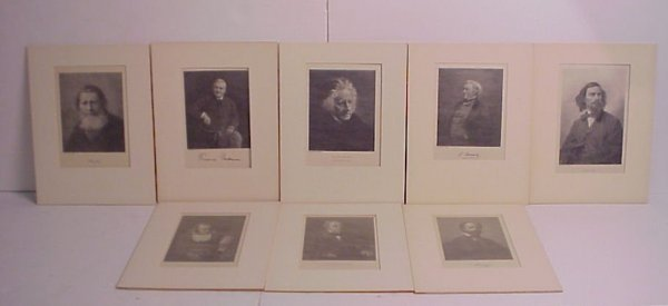 """1: Group of 19th C engravings, matted 13"""" x 10"""""""