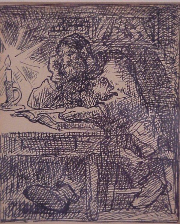 19: Eugene Higgins, N.A. (1874-1958 New York) Man  read