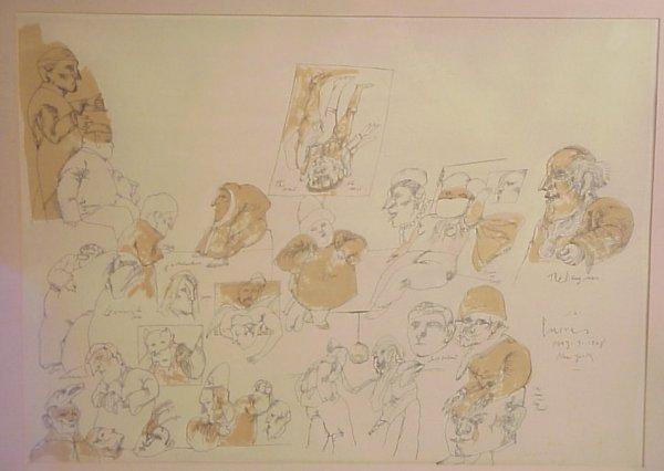 191: Jose Luis Cuevas (1934- , Mex/Amer) Lithograph,  s