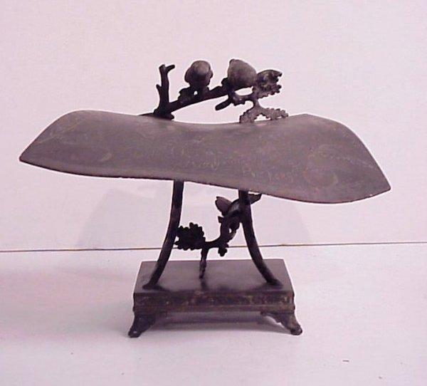 "9: Victorian silverplate ""Should Owl'd Aquaintance be"