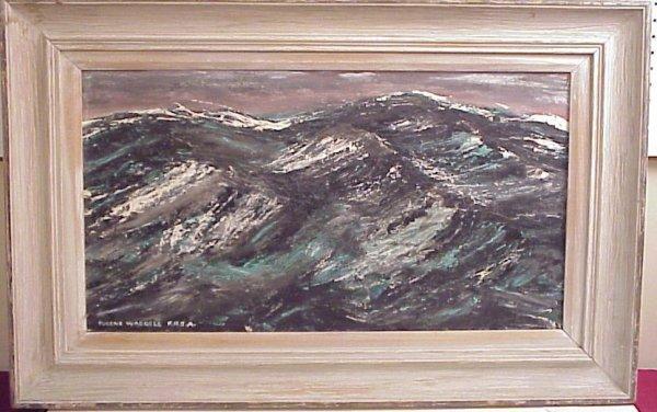 39: Eugene Waddell, seascape, oil on board, framed,  16