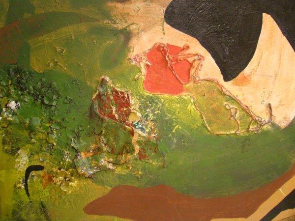 "18: Abstract, mixed media on canvas, 35"" x 4 1/14"",  mo"