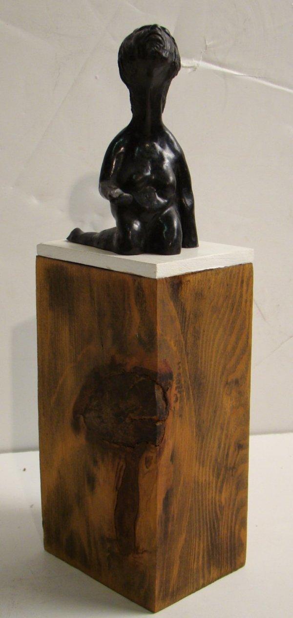 23: Lora Pennington modern bronze kneeling nude  female