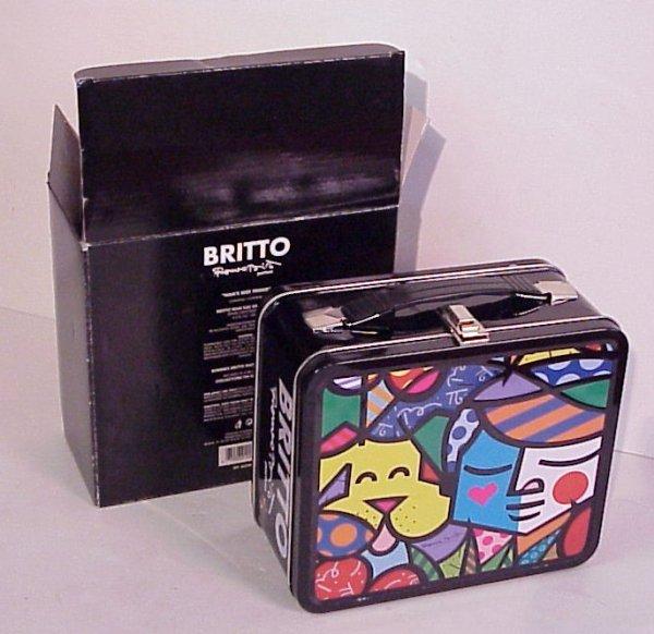 "2: Romero Britto ""Man's Best Friend"" lunchbox, fitted"