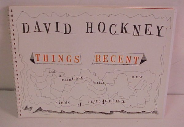 """6: David Hockney, """"Things Recent"""" limited edition  exhi"""