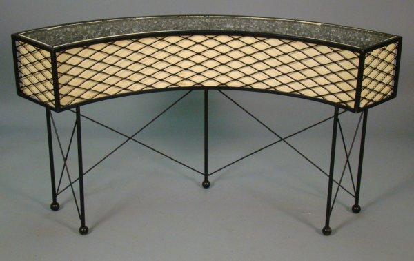 15: Painted metal planter w/H.Miller/Eames label ?