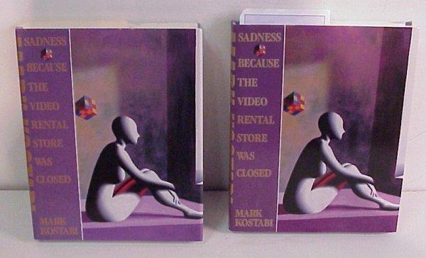 "19: Mark Kostabi,  2 signed books, ""Sadness Because  Th"