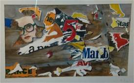 379 Tattered Billbard  2 Watercolor  ex Robert  Map