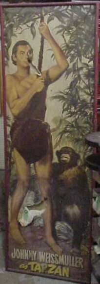 "1: VINTAGE TARZAN MOVIE POSTER, ""JOHNNY WEISSMULLER AS"