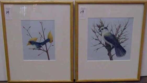 "19: 2 BIRD GOUACHES, FROM ""AUDUBON AFIELD"", SIGNED & TI"