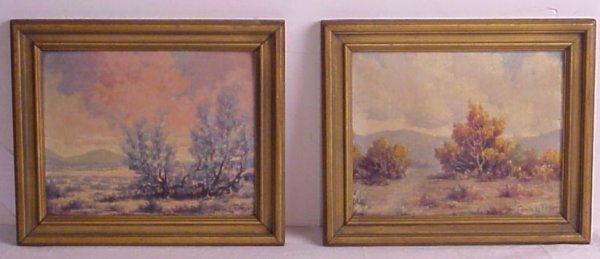 18: Edwin Forker (1876-1958 Calif) Two mountain  landsc