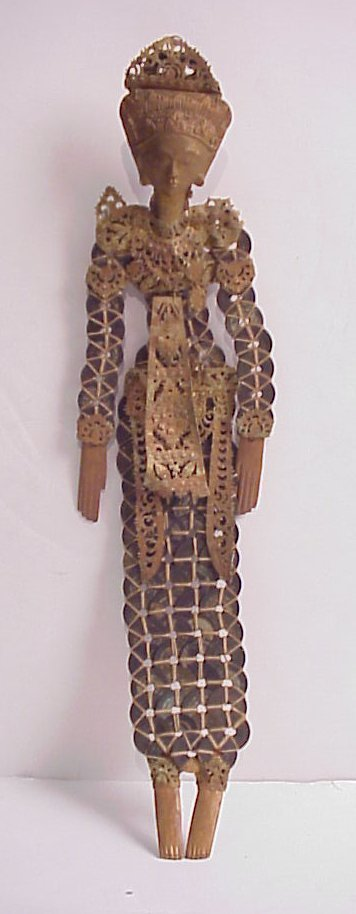 8: Chinese Folk Art  doll made of Chinese coins,  wood,