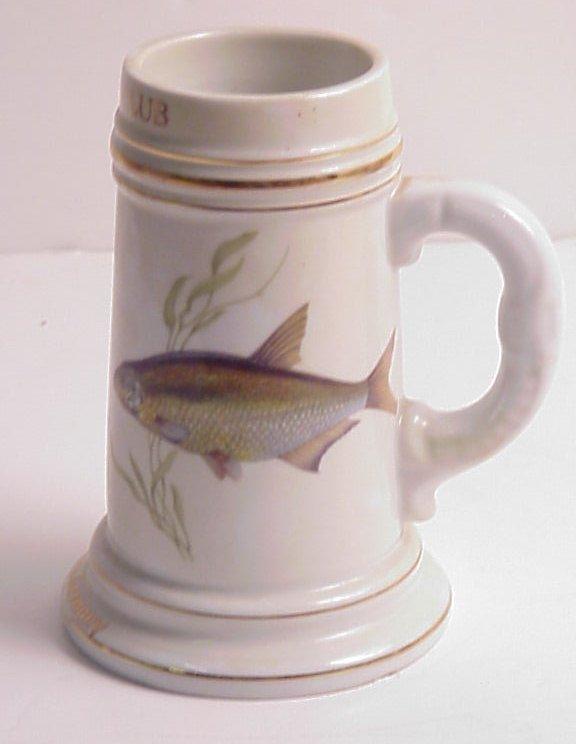16: German porcelain tankard, Rod and Gun Club,  lithop