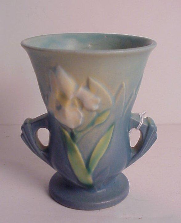 """12: Roseville Iris vase, 4""""h"""