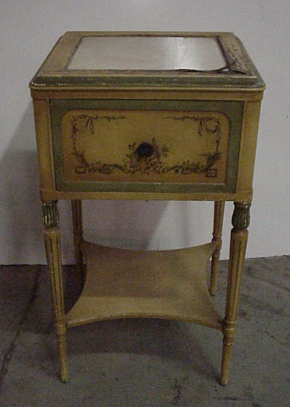 4: Painted end table, early 20thc