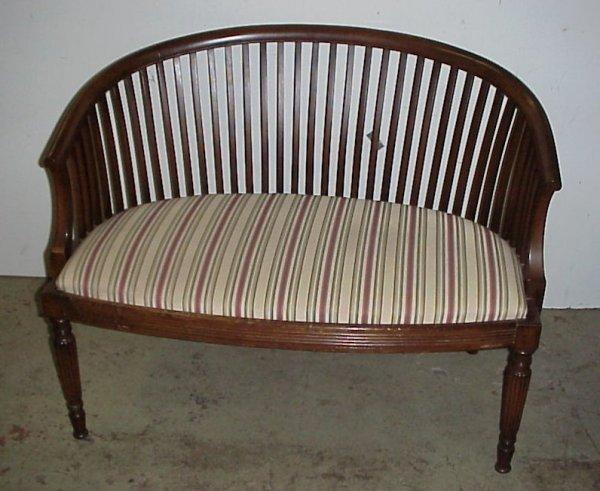 25: Sheraton style mahogany loveset