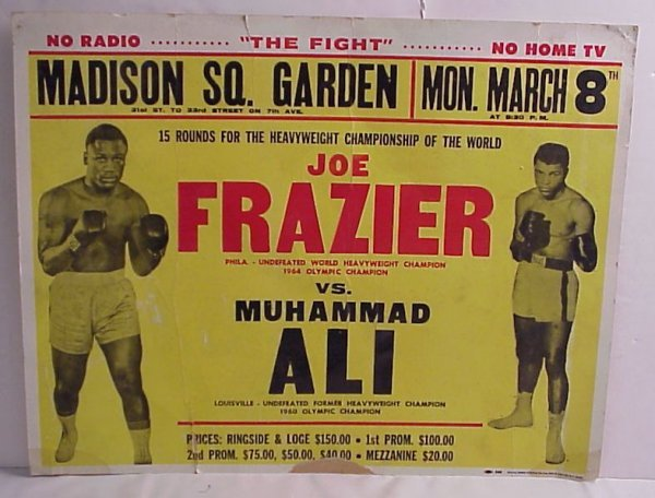 27: Joe Frazier vs. Muhammad Ali Madison Square Garden