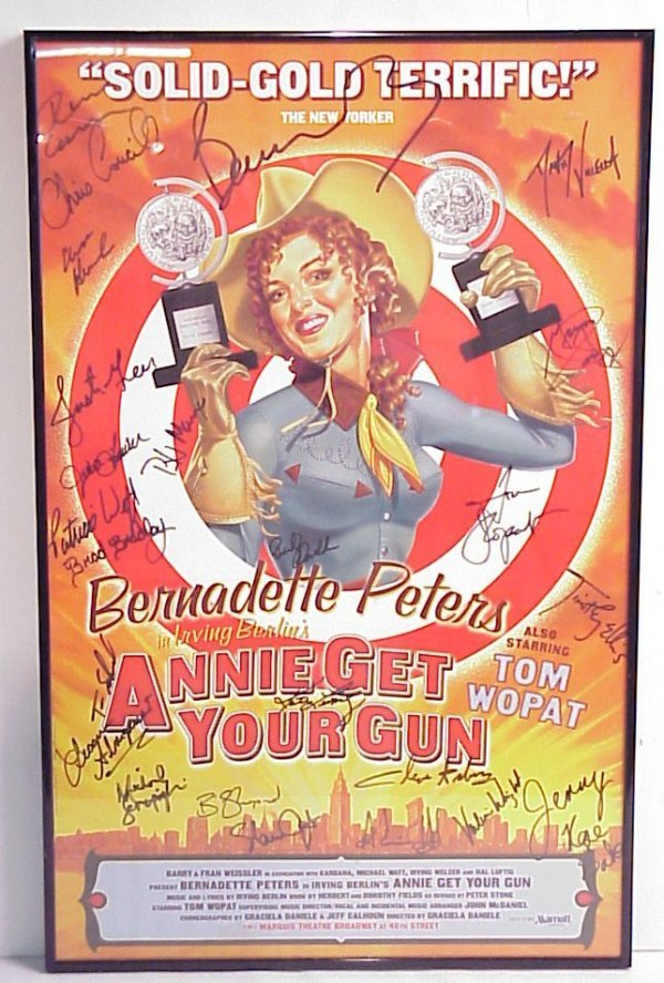 12: Annie Get Your Gun autographed Broadway poster,  fr