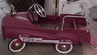 FIRE DEPT. PEDAL CAR, 50'S