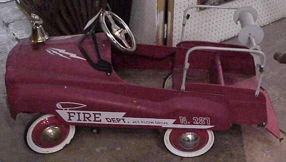 1002: FIRE DEPT. PEDAL CAR, 50'S