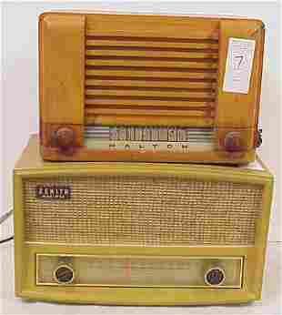 TWO VINTAGE RADIOS - HALTON AND ZENITH