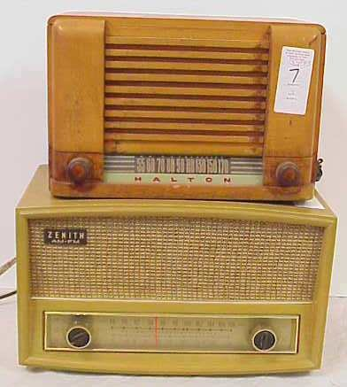1007: TWO VINTAGE RADIOS - HALTON AND ZENITH