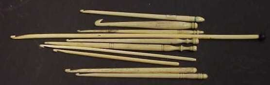 2314: 10 ASSORTED 19TH C IVORY & BONE SEWING IMPLEMENTS