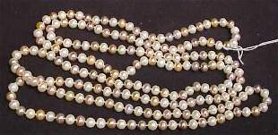 """MULTICOLORED CULTURED PEARL NECKLACE, 70"""" LONG, A"""