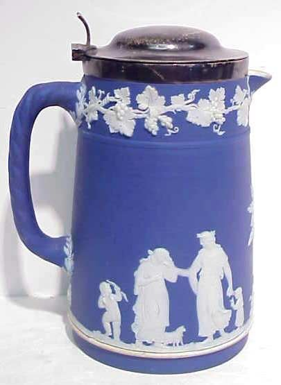 "1027A: WEDGEWOOD PITCHER, 6 1/4""H, MARKED WEDGEWOOD"