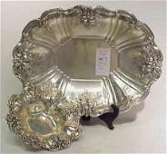 1147 2 REED  BARTON FRANCIS I STERLING SILVER SERVING