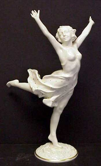 11: K. TUTTER HUTSCHENREUTHER DECO NUDE FIGURINE OF A W