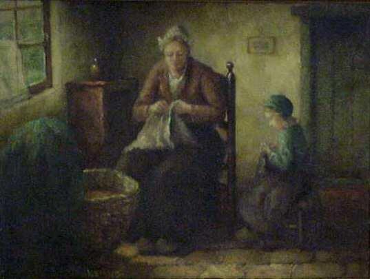 """1087: CLAUS (KLAUS) BERGEN (1885-1964, GERMAN). """"MOTHER"""