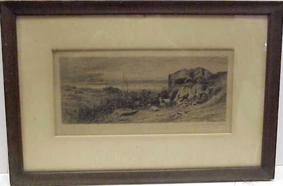 1009: JAMES D SMILLIE (1833-1909 NEW YORK) ETCHING, SHE