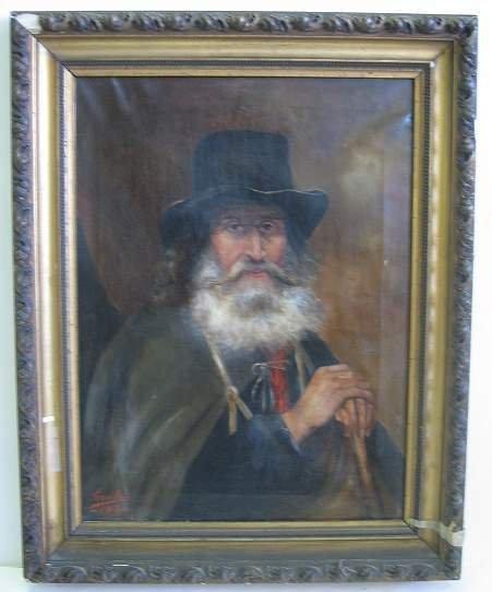 1017: PORTRAIT OF AN ELDERLY EUROPEAN GEMTLEMAN WITH A