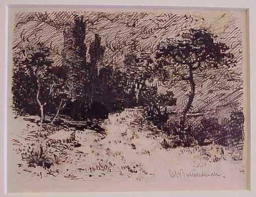 1023: GEORGE W BRENNEMAN (1856 - 1906, NY, NY), LANDSCA