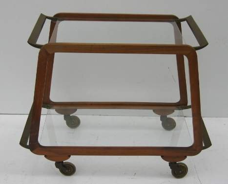 2006: 1950'S TEA CART/ITALY;FINE TWO TIER BLEACHED WALN