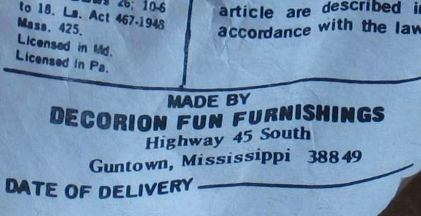 2368: OP-ART CHAIR BY DECORION FUN FURNISHINGS, 1960'S - 2