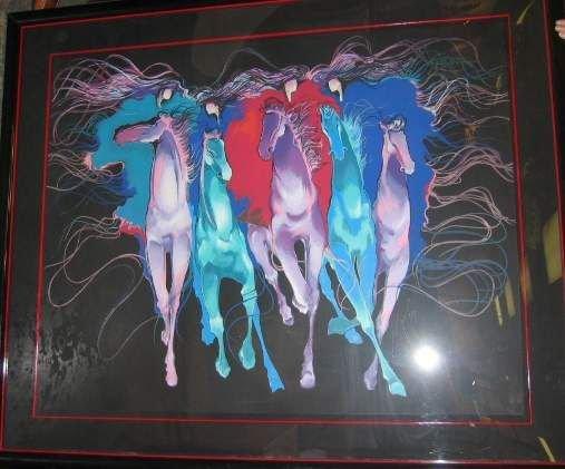 2001: BONNY YOUDIM (20THC USA) HORSES, LITHOGRAPH, SIGN