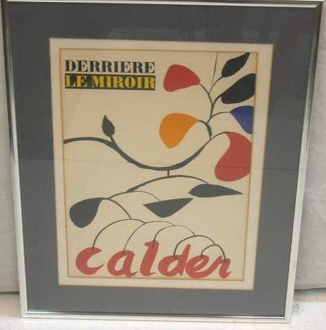 2014: DERRIERE LE MIROIR CALDER LITHOGRAPH, COVER ART