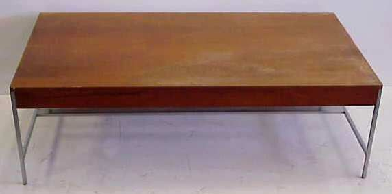GEORGE NELSON HERMAN MILLER COFFEE TABLE, BRUSHED