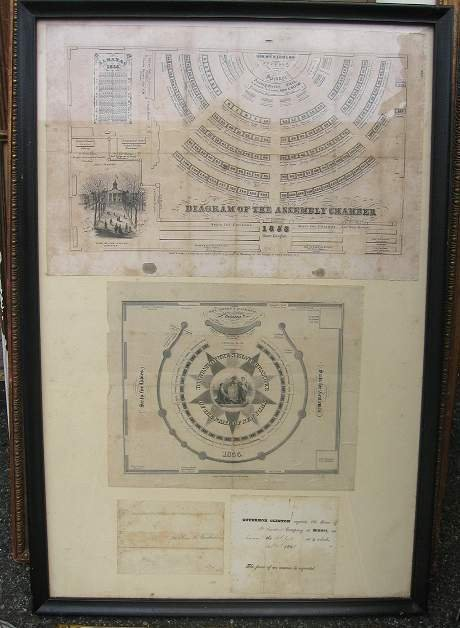23: TWO DIAGRAMS OF THE NY ASSEMBLY CHAMBER, 1853 AND N